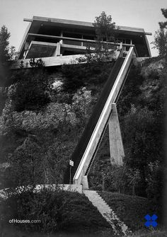 "Dangerous stair...  Vittoriano Viganò /// Casa ""La Scala"" for André Bloc /// Portese del Garda, Italy /// 1955-58"