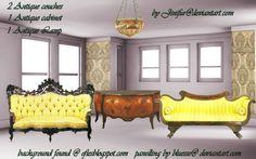 Antique furniture in png 6 by jinifur.deviantart.com on @DeviantArt