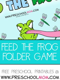 Feed the Frog File Folder Game This is a simple counting game for your preschool math centers. Froggy is grumpy, and froggy is hungry! Children count the amount of bugs and then direct the frog's tongue to the largest pile.  Free File Folder Games