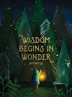 Wisdom begins in wonder Quotable Quotes, Book Quotes, Words Quotes, Me Quotes, Wisdom Quotes, Sayings, Socrates Quotes, Space Quotes, 2015 Quotes