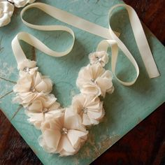 Cute necklace DIY....hmm, think would be doable with Stampin Up die cuts