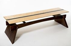 Stratus Bench by Wes Walsworth: Wood Bench available at www.artfulhome.com