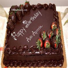Girlfriends Birthday Wish Chocolate Strawberry Cake Pix