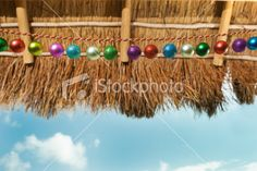Christmas Winter Vacation in Warm Tropical Beach Paradise Royalty Free Stock Photo