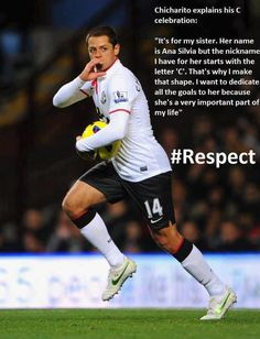 Javier Hernandez - Chicharito. Where did he come from?! I wouldn't have to change my last name!!