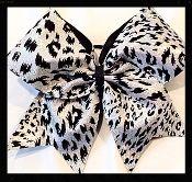 Hologram Cheetah Silver Cheer Bow
