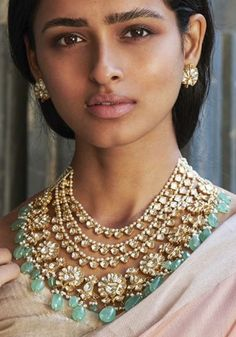Indian Wedding Makeup, Indian Bridal Outfits, Pakistani Bridal Wear, Indian Wedding Jewelry, Indian Jewelry, Bridal Jewelry, Fancy Jewellery, Trendy Jewelry, Bridal Chura