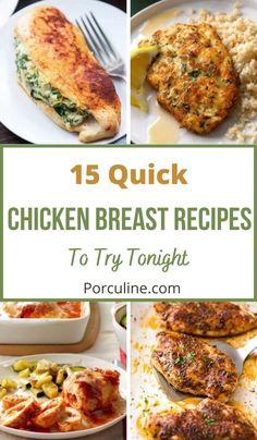 Easy Chicken Dinner Recipes, Easy Chicken Dishes, Easy Chicken Breast Dinner, Turkey Recipes, Dinner Entrees, Dinner Dishes, Food Dishes, Main Dishes, Baked Chicken Breast