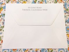 Return address calligraphy printed on the wedding invitation envelope flap with elegant calligraphy from Hyegraph Invitations & Calligraphy. Envelope Addressing, Calligraphy Envelope, Calligraphy Print, Italian Wedding Invitations, Wedding Invitation Envelopes, Wedding Stationery, Return Address, Cards Against Humanity, Printed