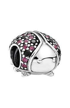 PANDORA Pavé Crystal Ladybug Charm available at #Nordstrom