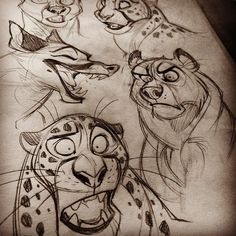 Some recent sketches. ✏️ #art #artist #artstagram #artwork #vixiearts #draw #draws #drawing #illustration #2d #sketch #sketches #leopard #characters #fox #pencil