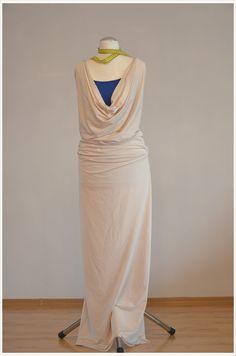 Fashion-DIY: Maxi-Sommerkleid in Creme #diy #deko #decoration #trend #tutorial #anleitung #selbermachen #filizity