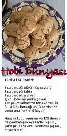 Visit the site for details. Visit the site for details. Tea Time Snacks, Cookie Recipes, Snack Recipes, Yummy Food, Tasty, Turkish Recipes, Chocolate Cookies, Honey Cookies, Sweet Recipes