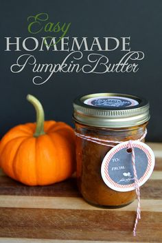 Easy Pumpkin Butter Recipe and Free Printable Labels! | Less Than Perfect Life of Bliss | home, diy, travel, parties, family, faith