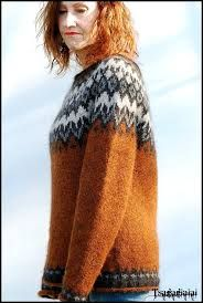 Billedresultat for ravelry sirri sweater Fair Isle Pullover, Handgestrickte Pullover, Fair Isle Knitting, Hand Knitting, Norwegian Knitting, Icelandic Sweaters, Fair Isle Pattern, Mittens Pattern, Nordic Sweater