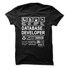 PROUD BEING A DATABASE DEVELOPER T-Shirt Hoodie Sweatshirts ioo. Check price ==► http://graphictshirts.xyz/?p=61652