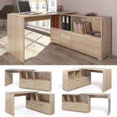 Can be placed anywhere in the room! Colour: Sonoma oak / white. Computer, Tablets & Networking (4). Computer, tablet e networking (4). Desk with Flex system. - Desk with Flex system. Building Kits (6). | eBay!