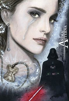 Beautiful but Sad Star Wars Traditional Art Watercolor Painting Photo Print Hand Signed - Ideas of Star Wars Outfits - Beautiful but Sad Star Wars Traditional Art Watercolor Painting Fine Art Print Hand Signed Star Wars Characters, Star Wars Episodes, Star Wars Episodio 2, Star Wars Brasil, Star Wars Padme, Pixar, Anakin And Padme, Star Wars Outfits, Star Wars Fan Art