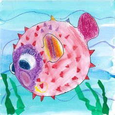 Colourful fish card with googly eyes!