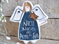 NICU Nurse Gift Salt Dough Thank You Ornament