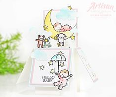 Moon Baby-Stampin Up-Card in a Box Kids Cards, Baby Cards, Card In A Box, Baby Box, Babies R, Stampinup, Beautiful Handmade Cards, Explosion Box, Stampin Up Cards