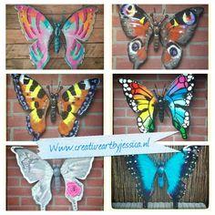 Vlinders tuindecoratie  Www.creativeartbyjessica.nl Wervershoof