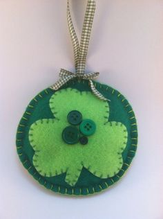 St. Patrick's Day Shamrock Ornament by patsfabriccreations on Etsy