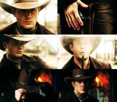Cowboy Dean   I've probably already pinned this but who doesn't wanna see cowboy Dean?