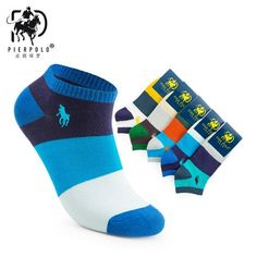 Underwear & Sleepwears Pier Polo Socks 5 Pairs High Quality Cotton Stripe Male Socks Embroidery Boat Meias Casual Ankle Socks Sheer Mens Short Socks Skillful Manufacture