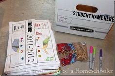 Homeschool Storage & Organization