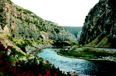 Wind River Canyon and river just before you come into my home town, Thermopolis, Wyoming