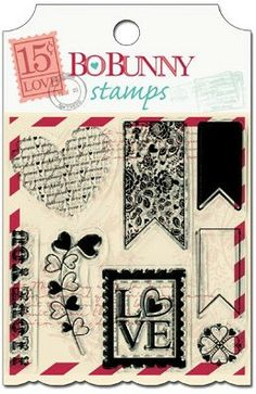 Bo Bunny: clear stamps - love letters