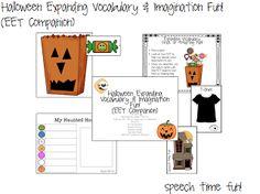 Speech Time Fun: Halloween Expanding Vocabulary & Imagination Fun! (EET Companion)