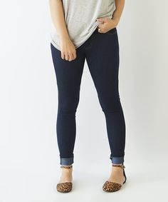 Another great find on #zulily! KISSmeMINT Navy Jeggings by KISSmeMINT #zulilyfinds
