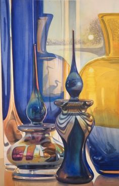 The official online store of American Watercolorist Paul Jackson, featuring original watercolors, prints, prints, signature paints and supplies. Painted Glass Vases, Glass Jars, Watercolor Sketch, Watercolor Paintings, Watercolours, Paul Jackson, Crystal Vase, Painted Floors, Anime Comics