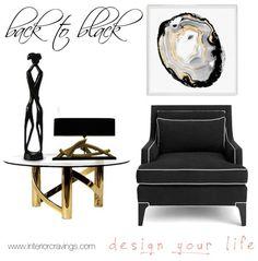 black details in interior design