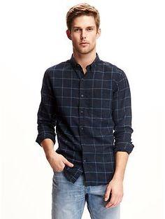 Slim-Fit Plaid Shirt for Men | Old Navy