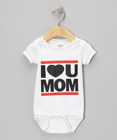 Look at this #zulilyfind! White 'I Love U Mom' Bodysuit - Infant #zulilyfinds