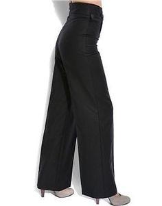 NEW Twenty8Twelve Black Samuel Wide-Leg Wool-Mohair Pants UK10/EUR38/US6 £215