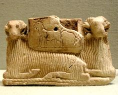 Vessel supported by two rams from Ur's Early Dynastic III Era 2600-2500 BC. The Metropolitan Museum of Art, New York City, NY.