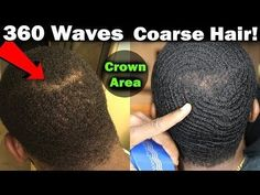 How To Get 360 Waves Fast with Coarse Hair! (Crown Area) How To Get 360 Waves Fast with Coarse Hair! Teen Boy Hairstyles, Crown Hairstyles, Curled Hairstyles, Angled Hair, Top Hair Salon, Thick Coarse Hair, 360 Waves, Hair Crown, Hair Trim