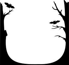bat page border free downloads at http pageborders org download rh pinterest com halloween page borders clipart halloween clip art borders and frames