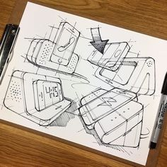 Dock it. #Repost @knackdesignstudio ・・・ Back to that Sharpie practice! I'm starting to think that Sharpie sketches will always be a challenge to pull off. But hey, If there's a will, there's a way, right?! . . . #practice #sharpie #sketch #sketching #sketchaday #sketchbook #officegoods #functionality #phonedock #personalassistant #iphone #conferencecall #industrialdesign #productdesign #ideation #concepts #process #perspective #penandink #blackandwhite