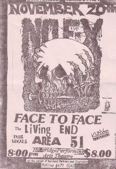 NOFX, FACE TO FACE, Living End, AREA 51,    @ the Huntridge 1993