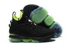 buy online 6a58b 01b13 New Style Nike LeBron 15 Mens Basketball Shoes Sneakers Coal Black Pale  Green,Cheap Nike Lebron 15 , Newest Nike Lebron 15 , Discount Nike Lebron 15  ...