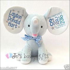 Personalised blue #dumble #cubbie, new baby teddy bear gift, embroidered #cubbies, View more on the LINK: http://www.zeppy.io/product/gb/2/272151463097/
