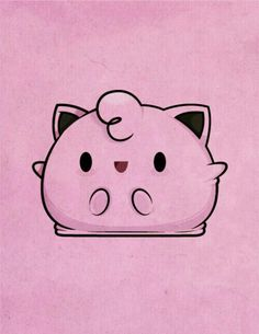 Pokemon - fat and squishy Jigglypuff Pokemon Jigglypuff, Pikachu, Chibi, Pokemon Party, Kawaii Cute, Digimon, Cute Drawings, Cute Art, Kingdom Hearts