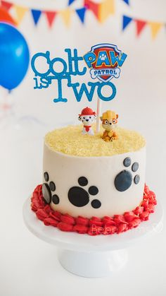 3 Year Old Birthday Cake, Birthday Cake Kids Boys, 4th Birthday Cakes, Torta Paw Patrol, Paw Patrol Cake Toppers, Paw Patrol Cupcakes, Paw Patrol Birthday Cake, Paw Patrol Party, Paw Print Cakes