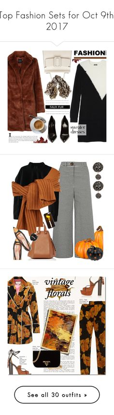 """""""Top Fashion Sets for Oct 9th, 2017"""" by polyvore ❤ liked on Polyvore featuring Vince Camuto, Boyy, Yves Saint Laurent, Black, Improvements, A.W.A.K.E., Loewe, TIBI, Kate Spade and Marni"""
