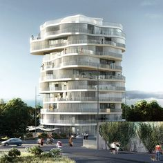 Lot 2, Jardins de la Lironde by Farshid Moussavi Architecture